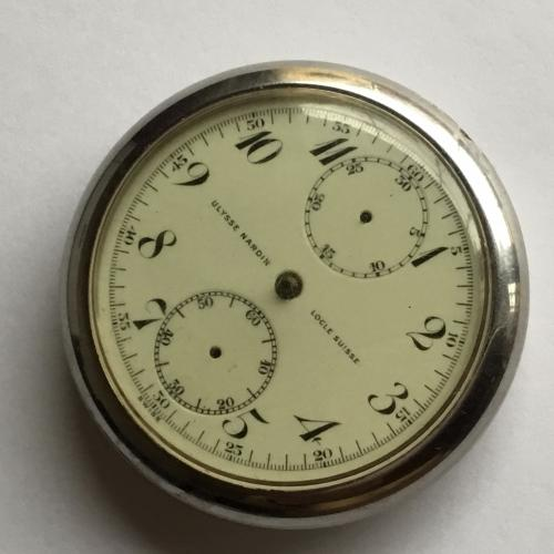 ULYSSE NARDIN LOCLE SUISSE CHRONOGRAPH Pocket Watch Movement