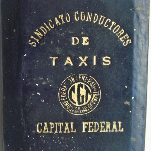 CARNET ANTIGUO SINDICATO CONDUCTORES DE TAXIS CGT CAPITAL FEDERAL